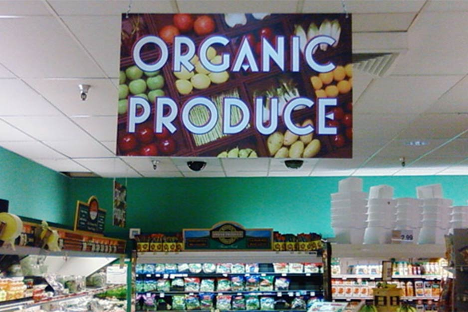Trucksis Flag & Banner organic produce signage