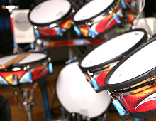 Roland drum set graphics
