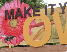 Sunset Magazine garden entrance sign