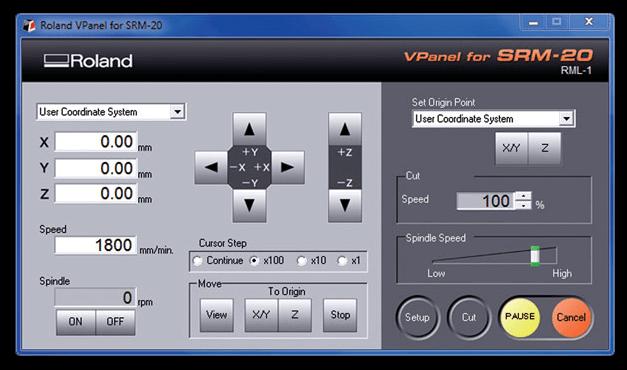 SRM-20 VPanel controller