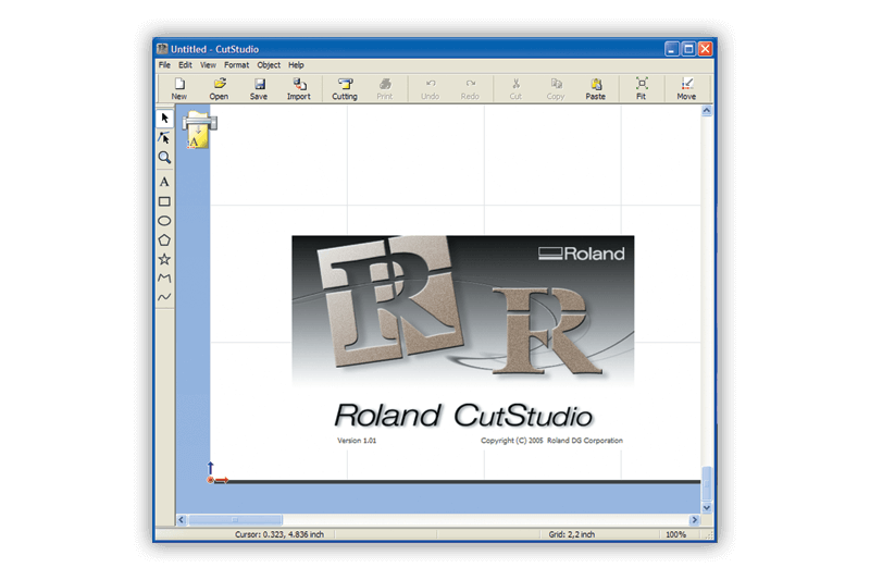 Roland CutStudio software