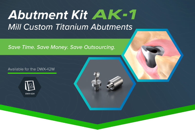 Abutement Kit AK-1 - Mill Custom Titanium Abutements