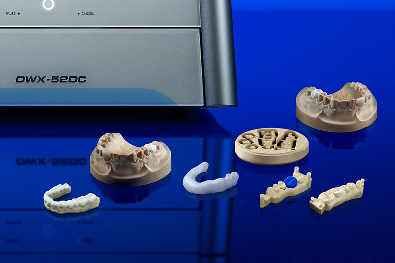 DWX-52DC dental milled samples