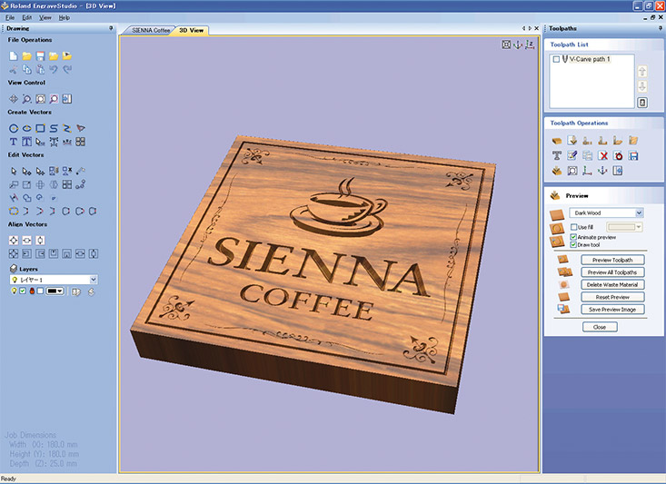 bundled software with EGX-400/600 engraving machines