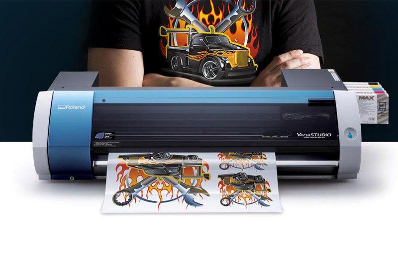 Desktop inkjet printer cutter versastudio bn 20 roland dga for Inkjet t shirt printing