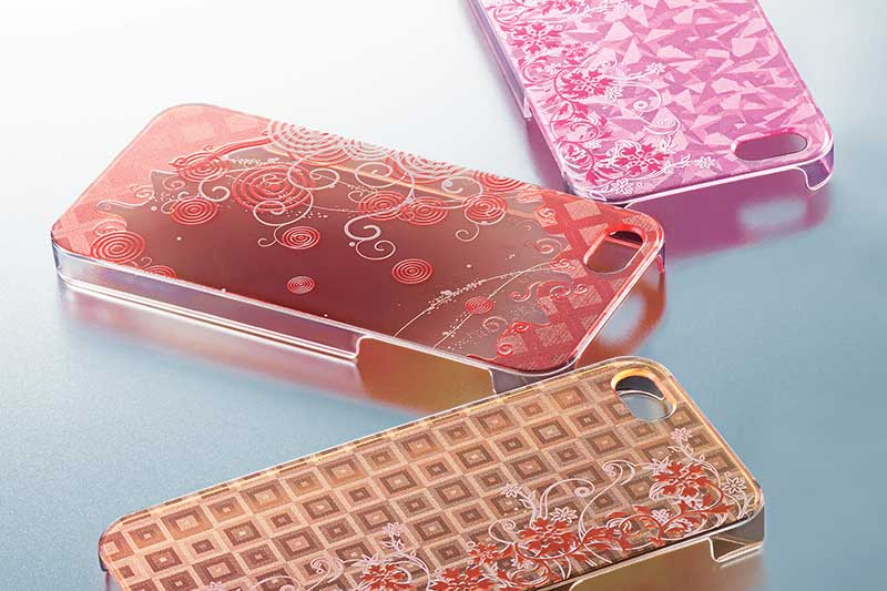 Custom printed phone cases with LEF