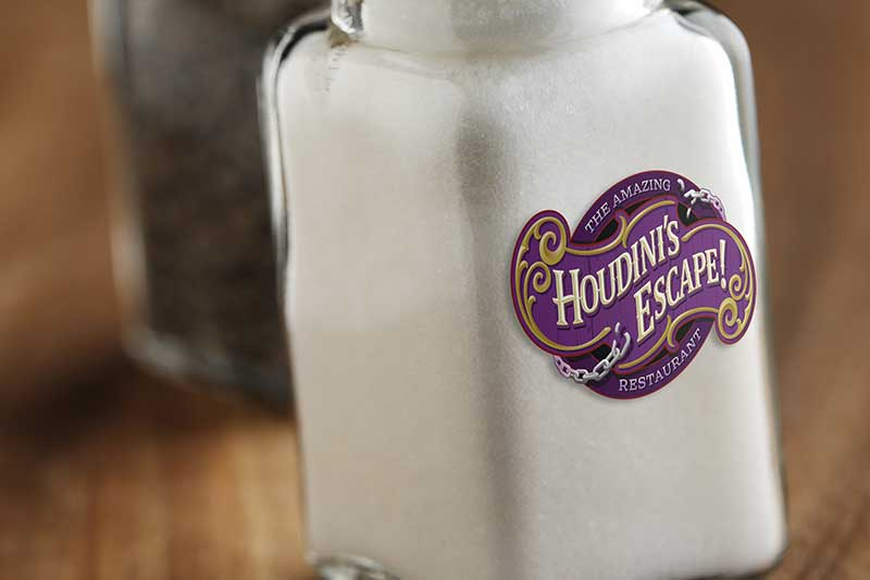 Custom printed Salt Shaker label
