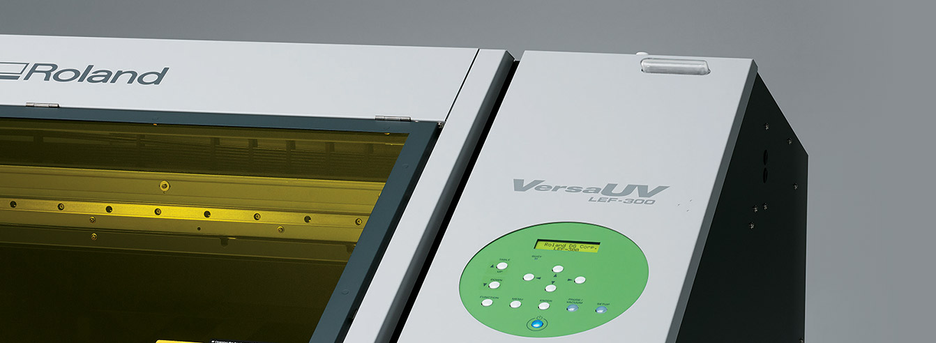 VersaUV LEF-300 Benchtop UV Flatbed Printer