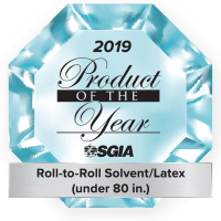 2019 Product of the Year - Roll-to-Roll Solvent/Latex under 80 in