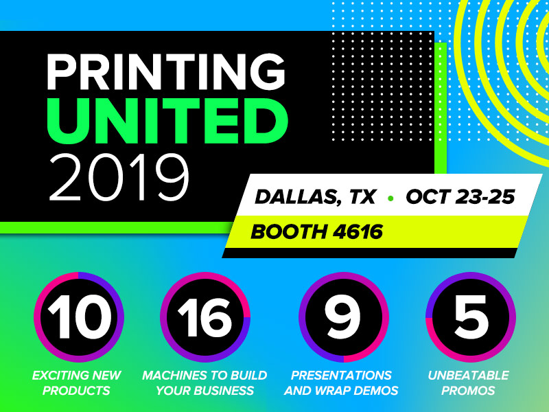 Roland at Printing United 2019 | Booth 4616