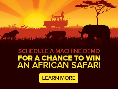 Schedule a Machine Demo for a Chance to Win